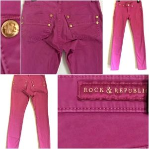 👖EUC Purple/Pink (magenta) Rock& Republic Jeans👖